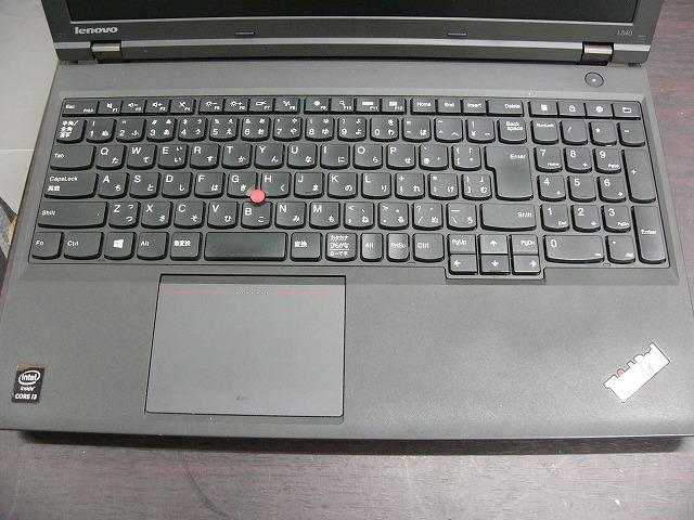 【中古】Lenovo ThinkPad L540 (i3 4000M/4GB/500GB HDD/DVD-SM/15.6inch HD/無線LAN/Win10 Pro)