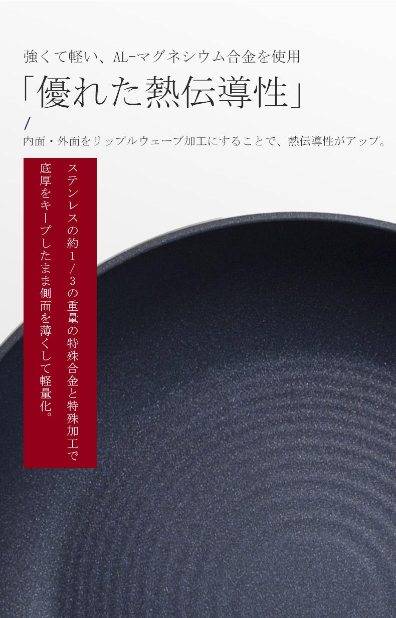 日本製 フライパン 30cm ガス火 ガス火専用 北陸アルミ センレンキャスト センレン 軽い くっつかない 焦げ付かない 焦げない 北陸アルミニウム おしゃれ センレンキャストフライパン  新生活 本格 テフロン加工 ヘルシー
