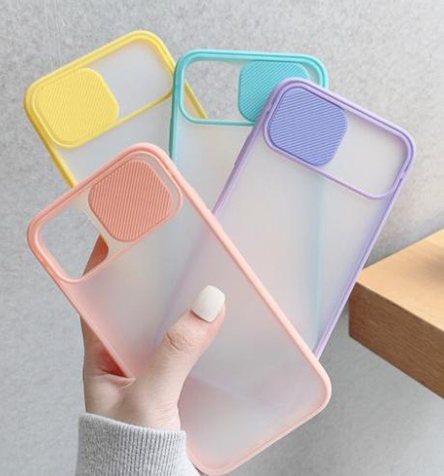 yhza 071kn05 iPhone12/12 pro ケース スカイブルー スライド式 アイホン 耐衝撃 カメラレンズ保護 滑り止め 指紋防止 超耐磨 スライドケース iPhone12/12pro