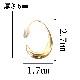 ymda 059kn05 ムーンフープピアス しずくフープピアス ゴールド フック レディース 女性用 シンプル カーブ 雫 しずく 水滴 モード 光沢感 ツヤあり 艶あり つや有り イヤアクセサリー