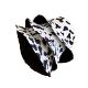 zvpa 1898kn10 ハット 【パンダ柄:55~58�】 バケットハット 男女兼用 つば広 リバーシブル 2way UV対策 サファリ アニマル柄 大きめ シンプル パターン