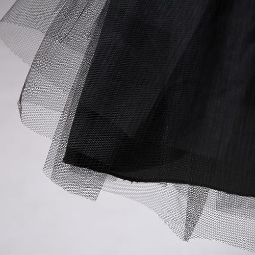 zgyx 013 【黒024】 花嫁 ウェディングドレス ミニパニア 3リム パニエ レディース 花嫁用品 結婚式 フリルいっぱい 演奏会