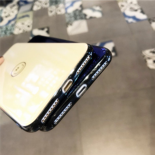 zvpa 1333kn05  【iPhone X/XS/ブルースマイリー】iPhoneケース スマホケース スマホカバー スマイル柄 スマイリー 傷防止 鏡面 バックカバー おしゃれ スリム 個性的 レディース メンズ 男女兼用