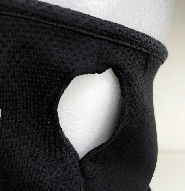 ymda 063kn05  ブラック ネックカバー フェイスカバー1枚 ハニカム生地 耳かけタイプ スポーツ ネックガード マスク