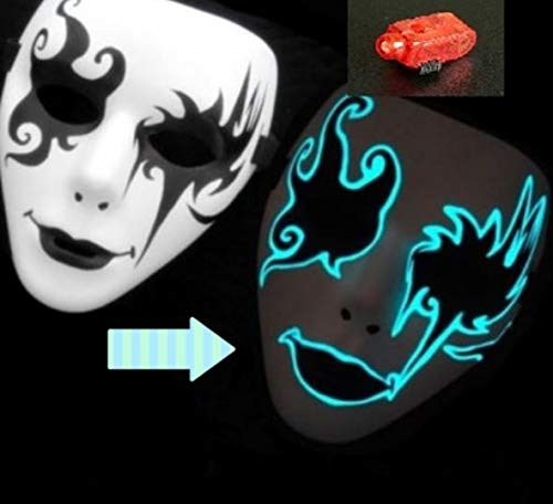 nvaz 041  (テヤンデイ)T-yanday マスク ハロウィン お面 光る 仮面 コスチューム用小物 ダンス ヒップホップ 学園祭 記念日 サプライズ パーティー 仮装大会 変装グッツ プチ仮装 クリスマス フィンガーライト付き