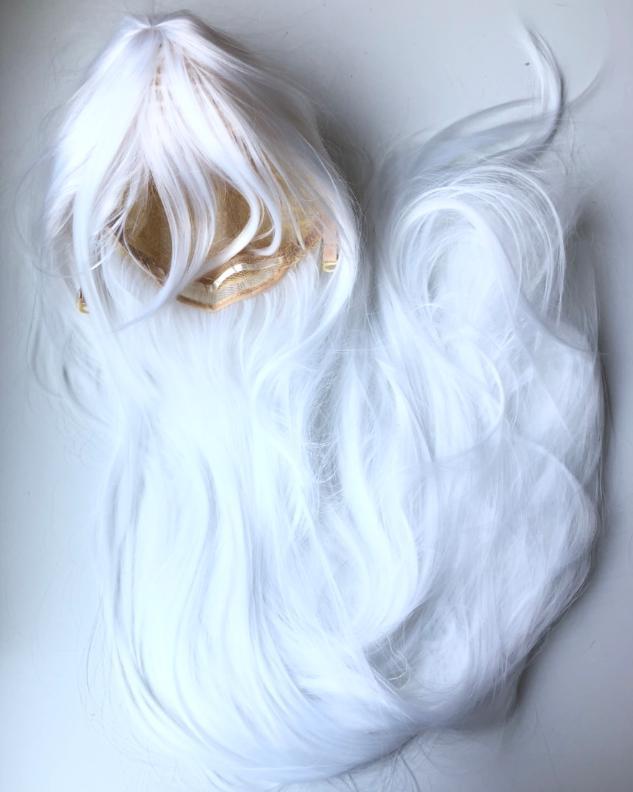 zvpa 1595upk3 【パールホワイト】 ウィッグ コスプレ ストレート ロング 100cm