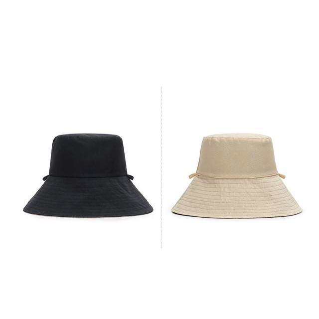 ykea 004kn10 レディース 春 夏 帽子 通気性 抜群 リバーシブル ハット 黒 ベージュ 蒸れにくい 紫外線カット 小顔効果 風で飛ばない 外せる あご紐付き 折りたたみ アウトドア UVカット帽子 日焼け防止 スカラハット 風 日よけ帽子 サイズ56-58cm