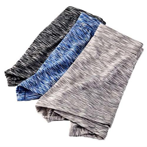 xmab 701upk3 【ブラック&グレー&ブルー/L】●F【ヘアライン柄 ボクサーパンツ】3色組(日本、M 相当)下向き メンズ パンツ ドライ 陰嚢分離 爽やか感触 網ポケット付き 股間冷却 3枚 セット ポジション キープ パンツ