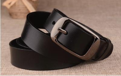 wnab 083upk3 ブラック 黒 本革ベルト レザー シンプル ビジネス カジュアル バックル 黒色
