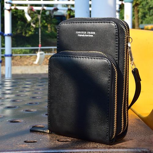 zfra 002tk50 お財布ショルダー ショルダーバッグ ハンドバッグ 多機能 斜めがけ ポシェット ポーチ レディース 人気 軽量 黒 ブラック