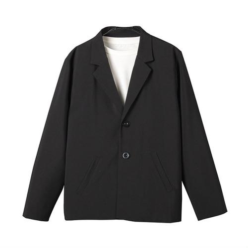 zaqa 406upk3 ジャケット メンズ 【黒・S】 二つボタン フォーマル セミフォーマル カジュアル 春 夏 秋