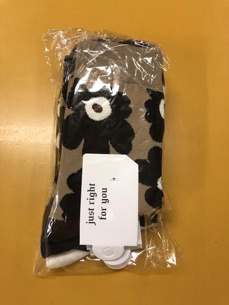 zvpa 1665upk2 【3色アソートセット】北欧風 花柄 クルーソックス 可愛い モノトーン 大人 レディース ショート おしゃれ
