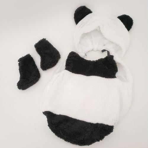 zgyx 041 【パンダ】ハロウィンベビー用 赤ちゃん 衣装 仮装 コスチューム 変装グッズ 子供 出産祝い 新生児 お誕生日