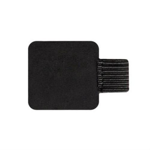 zvpa 014kn05 (黒色-四角) ペンループ ペンクリップ ブックノートアクセサリー レザークリップ ペンホルダー 自己粘着 シールタイプ