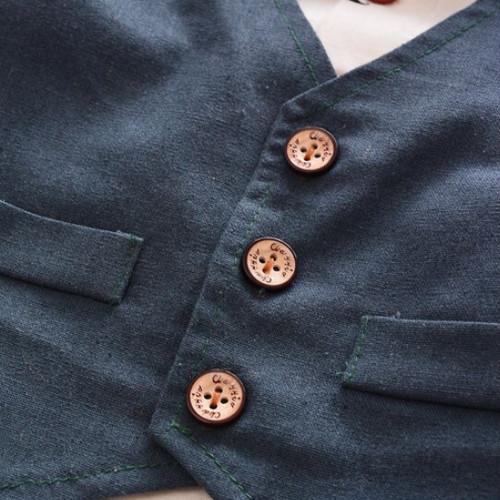 zvpa 1226upk3  【S80/ブルー】子供服 フォーマル 男の子 蝶ネクタイ キッズ ベビー服 チョッキ ベスト シャツ スーツ タキシード セット お呼ばれ 式 誕生日 おしゃれ かわいい