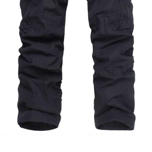 zaqa 340tk1k 【ブラック/サイズ30】カーゴパンツ ビンテージ メンズ コットン 作業ズボン ワークパンツ ゆったり 多機能 ロングパンツ 綿 無地