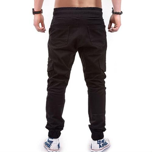 zaqa 765upk3 カーゴパンツ メンズ 【黒・XL】 ワークパンツ カジュアル ジョガータイプ シックスポケット ワークウェア