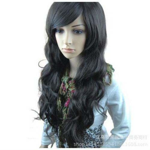 mkab 119upk3 ブラック ゆるふわ ウィッグ ロング カール フルウイッグ 前髪 長め レディース 女っぽくもカジュアル