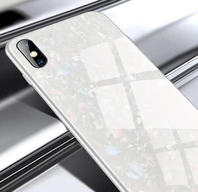 zvpa 1744kn05 (ホワイトiphone12/12pro)iphoneケース ガラスシェル キラキラ 高級感 宝石 ツヤ