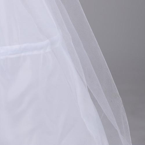zgyx 004 【13花嫁ドレス 定番】3段フリル ボリューム パニエ フリルいっぱい ハードチュール1枚を重ね 裏地付き ふわふわパニエ カラースカート レディース