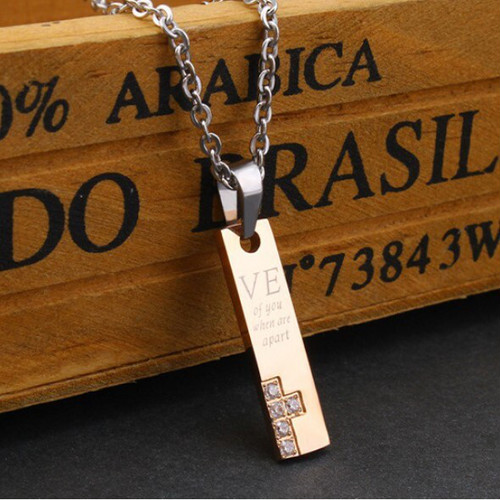 zvpa 1061kn05  ペアネックレス プレート ペアアクセサリー カップル お揃い ネックレス プレート ギフト プレゼント