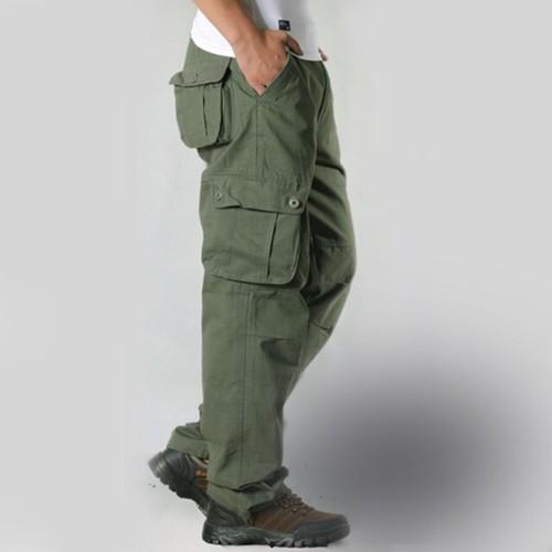 zaqa 344tk1k 【グラスグリーン/サイズ31】カーゴパンツ ビンテージ メンズ コットン 作業ズボン ワークパンツ ゆったり 多機能 ロングパンツ 綿 無地