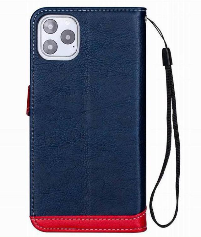 yhza 119kn10 (ブラック)iphone 12/12pro ケース おしゃれ 手帳型 PUレザー 革 かっこいい カード収納 ストラップ付き