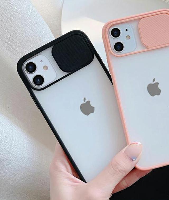 yhza 042kn05 iPhone12  ケース ブラック 黒 スライド式 アイホン 耐衝撃 カメラレンズ保護 滑り止め 指紋防止 超耐磨 スライドケース iPhone 12