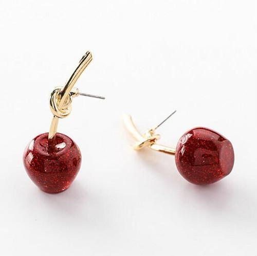 zvpa 751upk2 【ピアス】りんごピアス ピアス かわいい アップル ゴールド フルーツ 果物ピアス ラメ レディース アクセサリー ジュエリー プレゼント 個性的 大ぶり