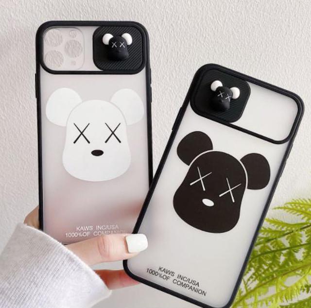 yhza 047kn05  iPhone 12pro ケース マウス ブラック スライドカバーデザイン スライドケース かわいい おしゃれ iphone 12pro