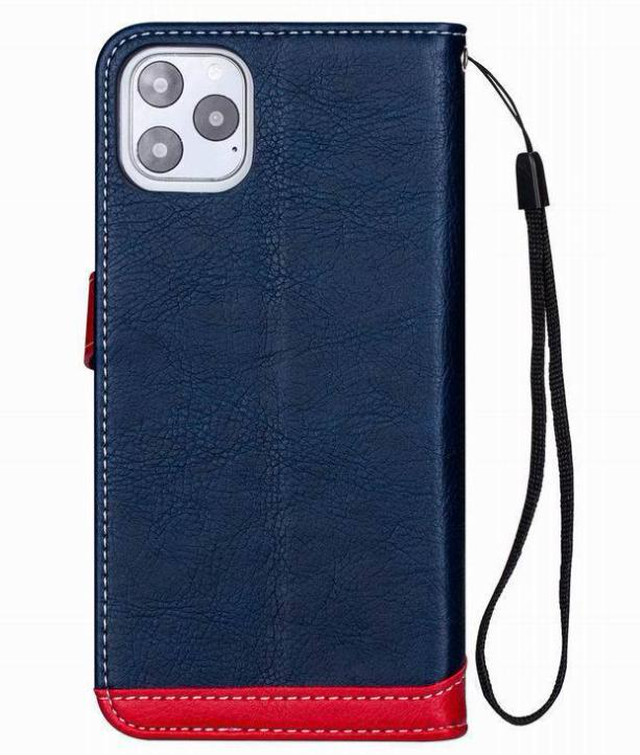 yhza 125kn10 (ネイビー)iphone 12/12pro ケース おしゃれ 手帳型 PUレザー 革 かっこいい カード収納 ストラップ付き iphone 12/12pro