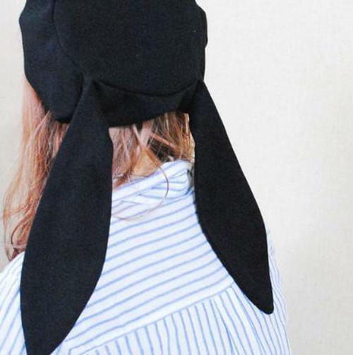 zvpa 159upk2 うさ耳 ベレー帽 ラビット 耳つき 垂れ耳 可愛い ガーリー ハロウィン パーティー 仮装 インスタ映え 原宿系 カジュアル