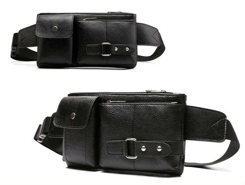 spab 858upk3 ボディバッグ ボディーバッグ ショルダーバッグ レザー 黒 小物 鞄 ポケット