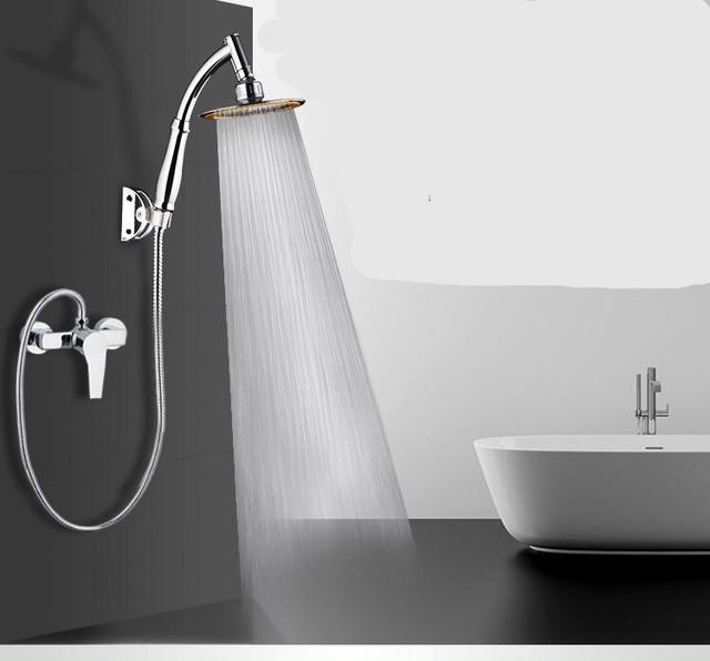 ymda 014tk25 シャワーヘッド スタイリッシュ オシャレ 高級感 デザイン 水圧アップ 節水 大口径 やわらか ステンレス 可動ヘッド