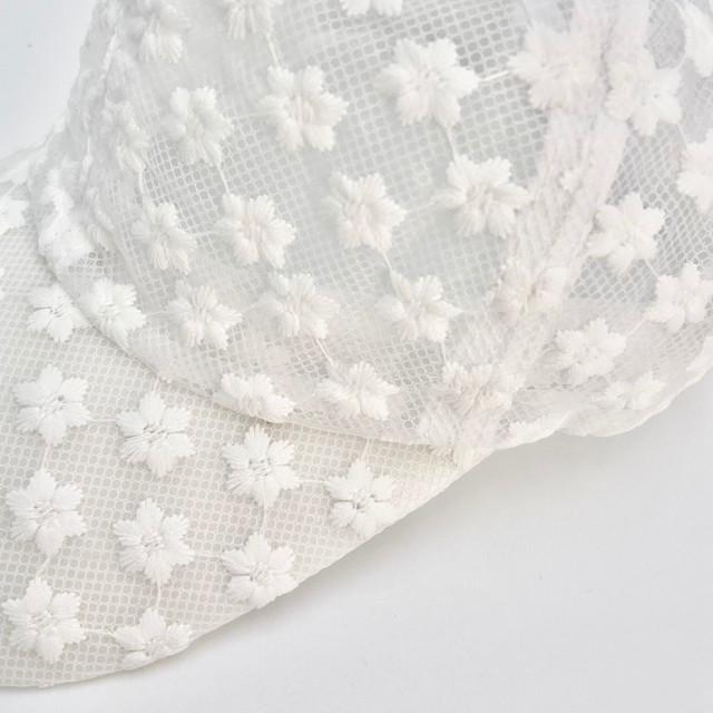 ymda 270tk10 花柄キャップ 白 フラワー 刺繍 サイズ調節 ローキャップ レディース キャップ メンズ カジュアル オシャレ かわいい 花柄 日除け 韓国 オルチャン