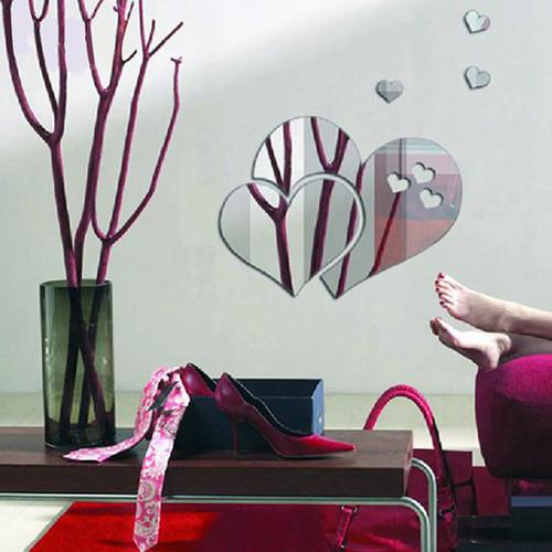 zvpa 1594tk10 ハートミラー ウォールステッカー 貼る 鏡 おしゃれ 鏡面 アクリルミラー 軽量 割れない 安心 かわいい