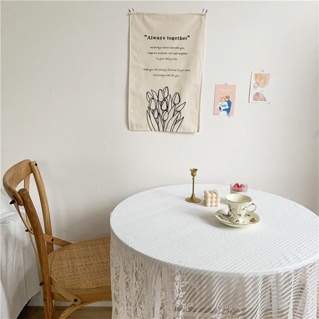 rkab 353kn10 ファブリック ポスター 韓国風 タペストリー 【チューリップ花束】 お洒落 布ポスター 壁掛け インテリア