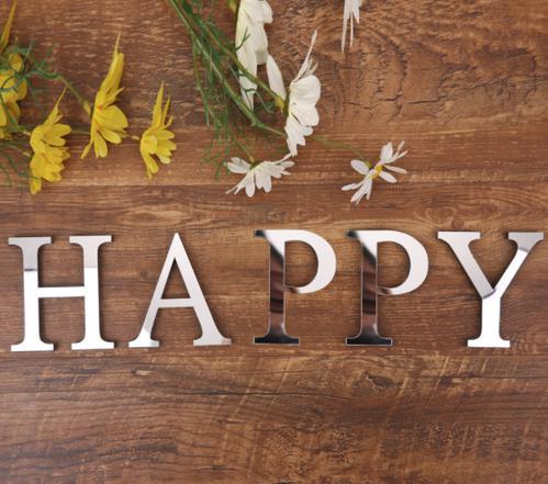 zbpa 070yp06 ウォールステッカー インテリア ローマ字 HAPPY おしゃれ 装飾 ミラー 結婚式 誕生日