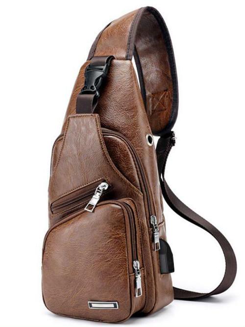 spab 865upk3 ボディバッグ ボディーバッグ ショルダーバッグ メンズ ブラウン USBポート 鞄