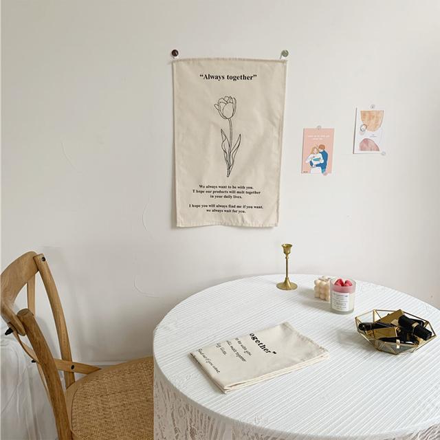 rkab 354kn10 ファブリック ポスター 韓国風 タペストリー 【チューリップ1本】 お洒落 布ポスター 壁掛け インテリア