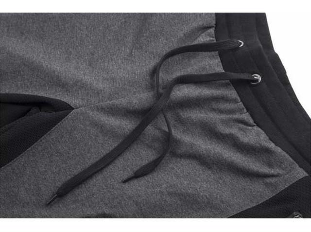 xmab 817upk3 【XXL/ライトグレー】【7分丈 ジョガーパンツ】メンズ ジャージー パンツ フィットネス スポーツ 大きいサイズ かっこいい ジョギング スエット パンツ トレーニングパンツ ショートパンツ バミューダパンツ スウェット ジムウェア ランニング カーゴ メッシュ