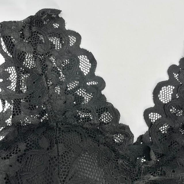 ymda 272kn10 優しい肌当たりで締め付けないナイトブラ 黒 育乳ブラ バストアップ 就寝用 下垂れ防止 ノンワイヤー 補正ブラ ブラジャー 総レース 女性 下着 かわいい 育乳