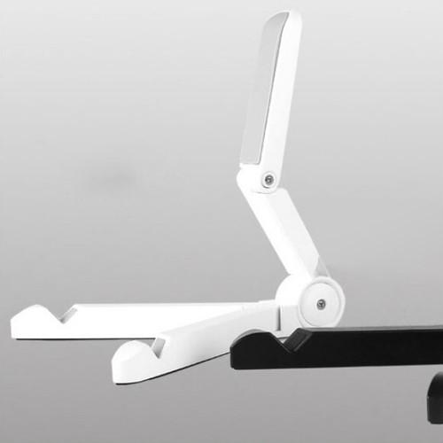 zvpa 1255upk3  【ホワイト/平折】タブレットスタンド スマホスタンド 折りたたみ 持ち運び ポータブル デスクスタンド ホルダー ipad シンプル スタイリッシュ ハンズフリー スマホ兼用