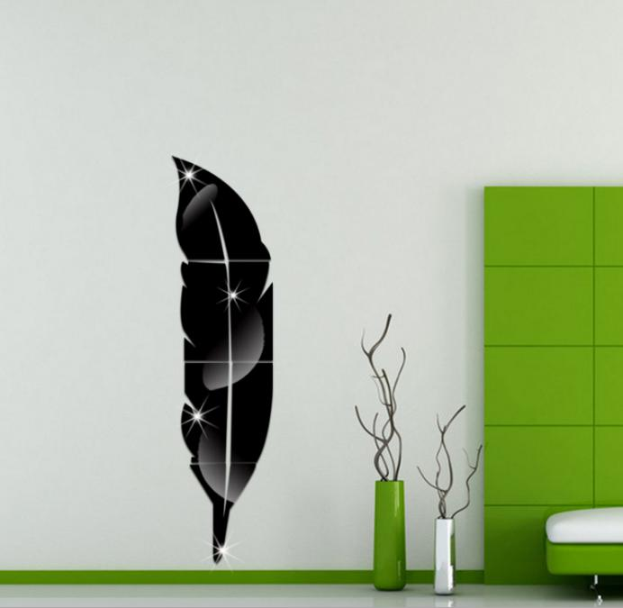 zvpa 079upk1 ミラー ウォールステッカー 割れない鏡 DIY 壁鏡 壁用 おしゃれ インテリア 鏡貼 剥がせる 防水 内室装飾 りピング 浴室 化粧 羽