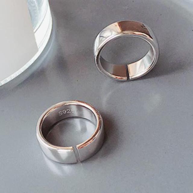 zvpa 1836kn05 【シルバー】指輪 リング サージカルステンレス 鏡面 平打ち 7mm メンズ レディース