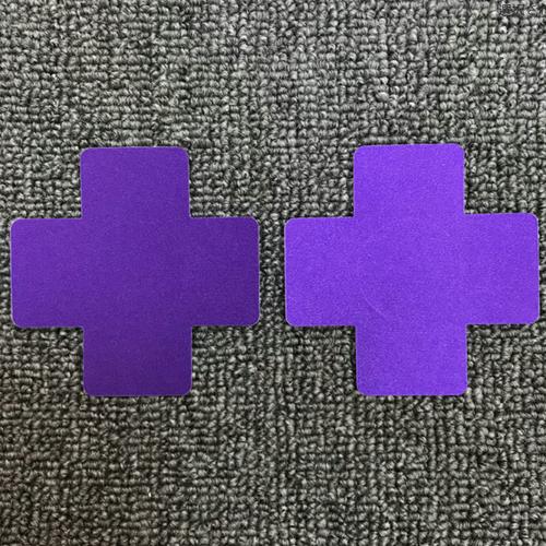 ycfa 018upk1 パープル 紫 レディース バストトップシール 2枚セット 1ペア クロス ニプレス ニップル 使い捨て ニップレス クロス 使い捨て シールブラ ドレス コスチューム スポーツ 用に