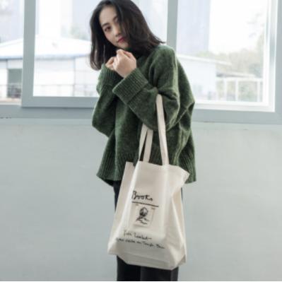 zvpa 1687upk3 【ホワイト キャンバスバッグ】ショルダーバッグ トートバッグ キャンバスバッグ シンプル ファッション 韓国 刺繍