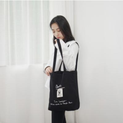 zvpa 1688upk3 【ブラック キャンバスバッグ】ショルダーバッグ トートバッグ キャンバスバッグ シンプル ファッション 韓国 刺繍