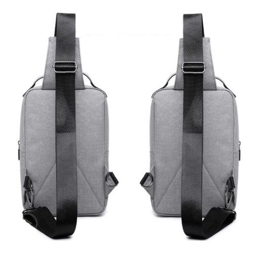 zvpa 838upk3 【ダブルファスナー/グレー】ショルダーバッグ ボディバッグ 斜めがけバッグ メンズ レデース メッセンジャーバッグ 大容量 カジュアル ハイスペック おしゃれ 機能的 カジュアル 多機能