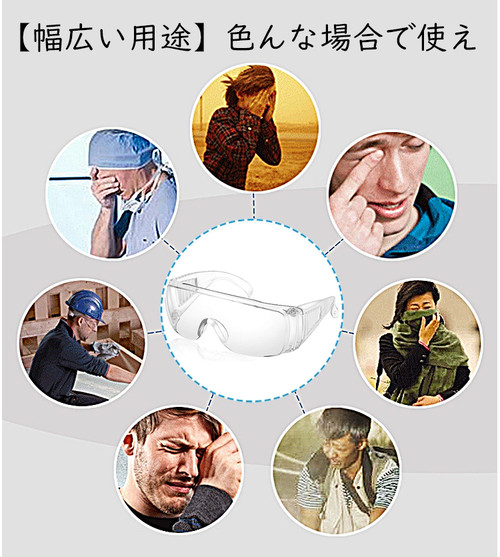 zgyx 103 花粉防塵メガネ 花粉・紫外線対策アイウェア医療用保護メガネ プロテクトフィット 風よけ 霧対策水よけ スムージング快適 UVカット ウイルス対策 男女兼用 便利グッズ